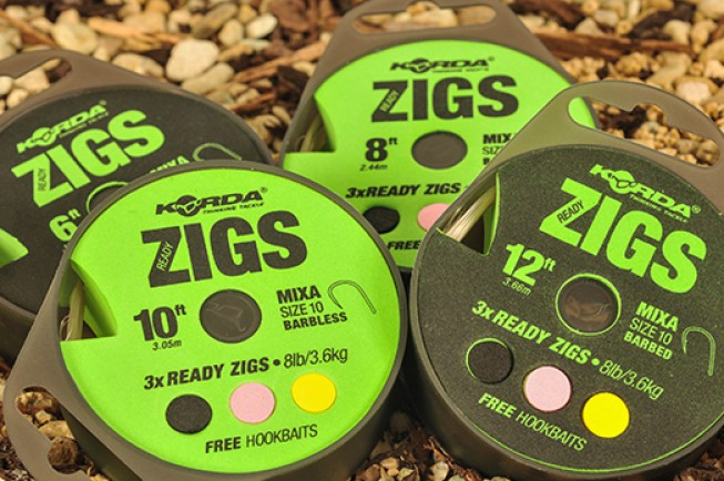 The new range of Korda Ready Tied Zig Rigs