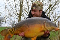 This 25lb 8oz mirror was one of eight bites to Dan's rods