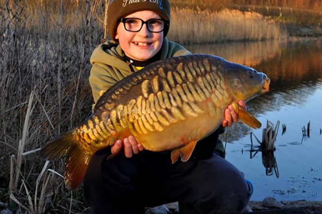 This pretty mirror was James' first Embryo water carp