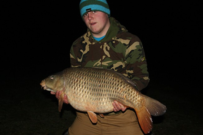 Brandon Lilley with his new PB carp