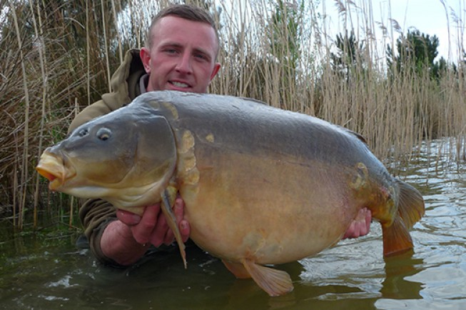 Billy Flowers with his 41lb 12oz prize