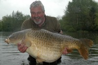 Clive with his fourth 80lb-plus carp
