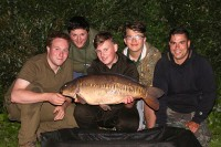 Jame Turner's students Ben and Alfie caught some great carp