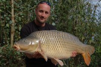 Gareth Radley with his 37lb Road Lake common