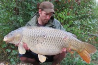 Rhys Kennington with his 39lb Road Lake common