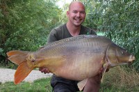 Ben Larter with the new Road Lake record