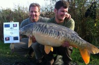The lad's stunning 30lb 3oz linear from Cottington