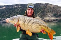 Brett White with a typical Ebro common