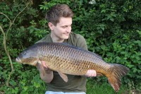 Corin with one of the bigger fish to fall to the duo