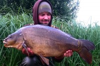The fish in the net was this 24lb mirror