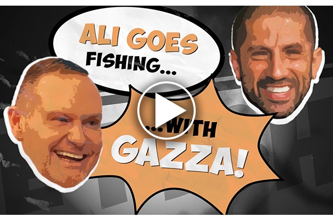 Ali goes fishing with Gazza