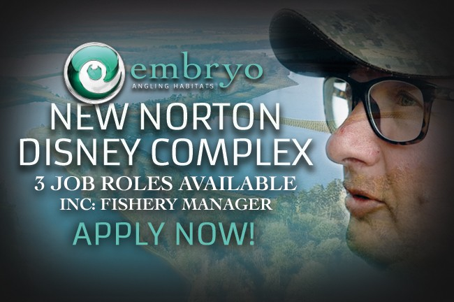 Multiple Job Opportunities  - Embryo Angling | Norton Disney